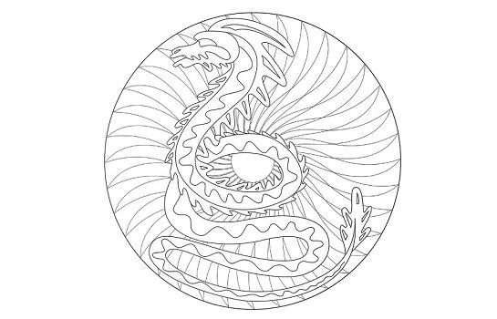 Mandalas de dragones