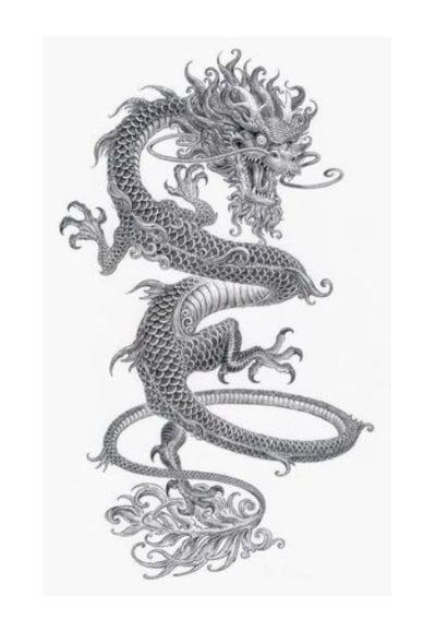 dibujo de dragón a lápiz
