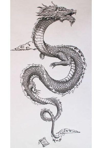 dibujos de dragones a lapiz