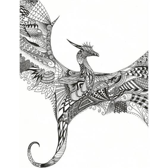 dragón mandala para pintar