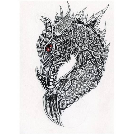 dragón mandala
