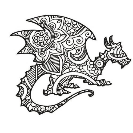 dragon mandala para imprimir