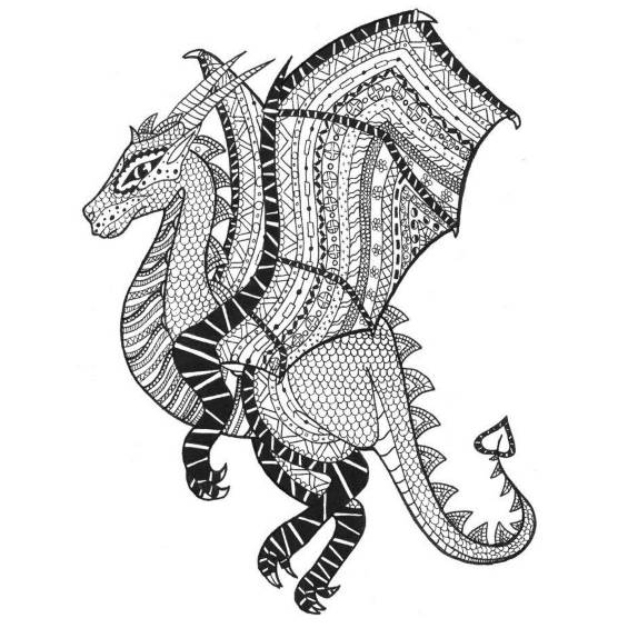 dragon mandala para pintar