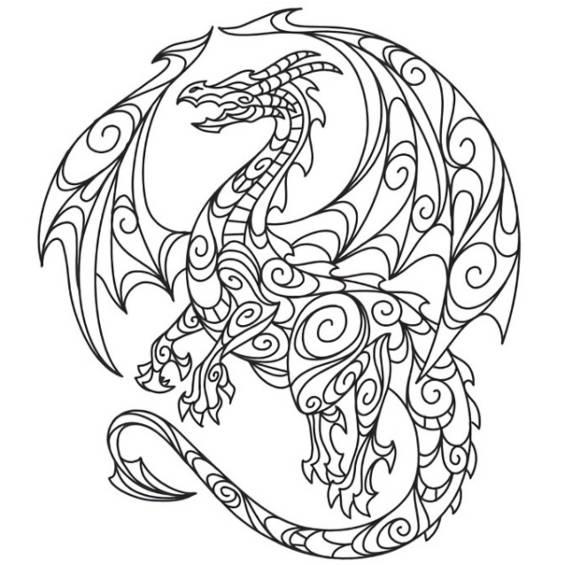 dragones mandalas para imprimir