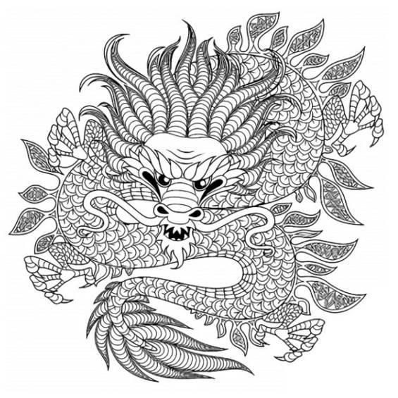dragones mandalas para pintar