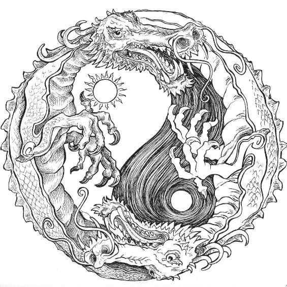 dragones mandalas