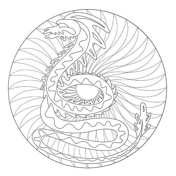 mándalas de dragones para imprimir