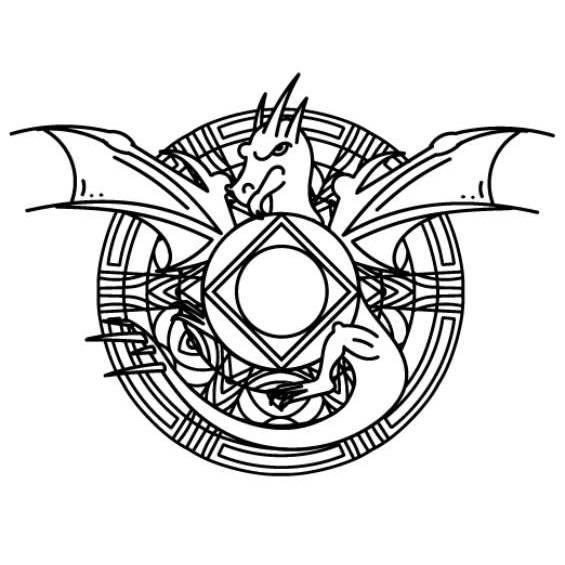 mandala de un dragon para pintar