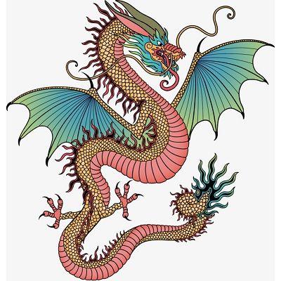 mandalas de dragones a color