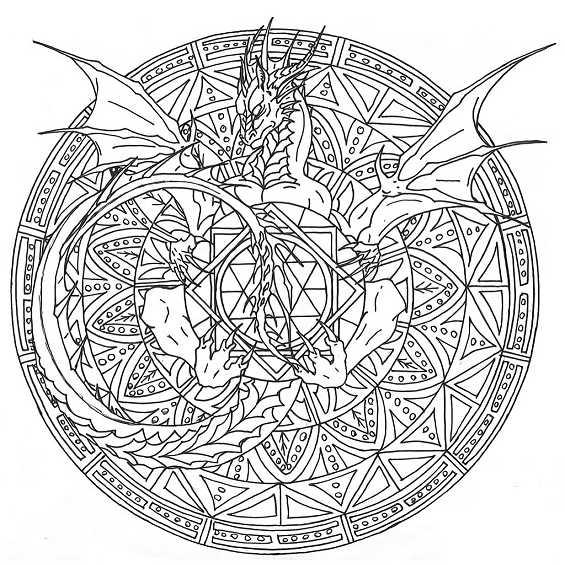 mandalas de dragones para colorear