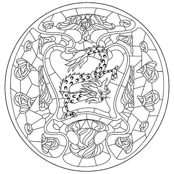 mandalas de dragones para imprimir