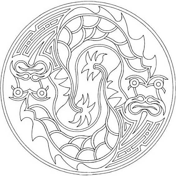 mandalas de dragones para pintar