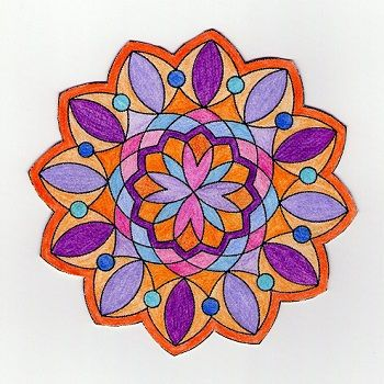 dibujo de mandala coloreada