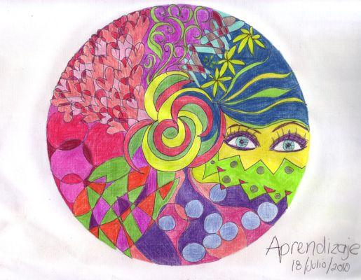mandala a color aprendizaje