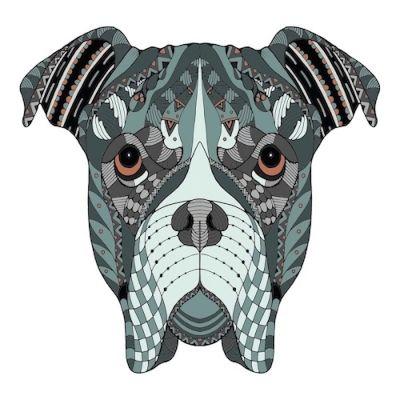 mandala a color de un perro