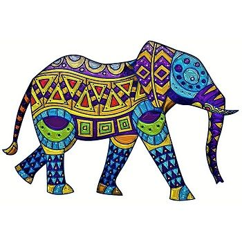 mandala a color elefante