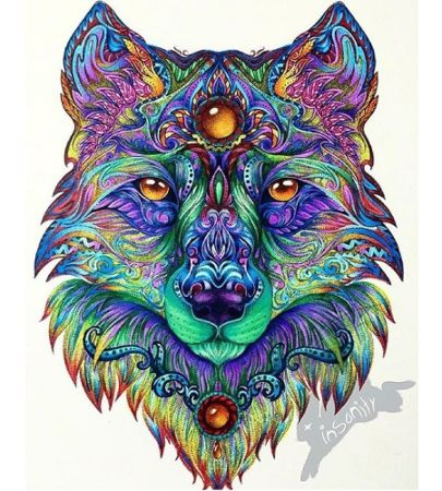 mandala a color lobo