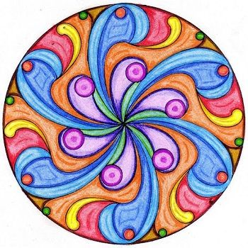 mandala coloreada a mano facil