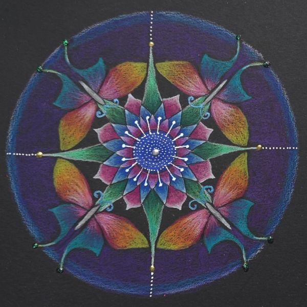 mandala coloreada con flores