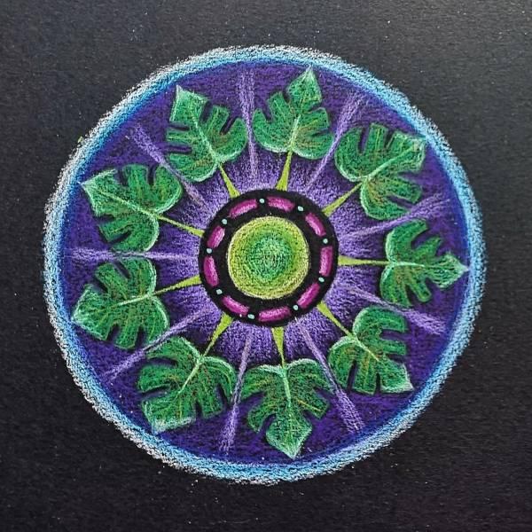 mandala coloreada coronavirus