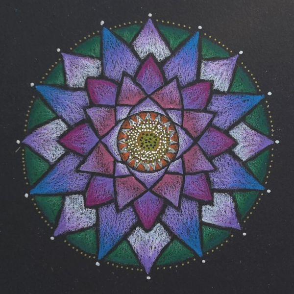mandala coloreada flor de loto