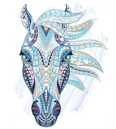 mandala pintado caballo