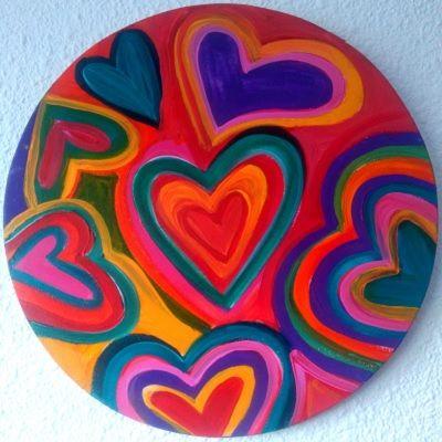 mandalas coloradas de corazones