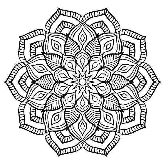 mandala dificil de flores para imprimir