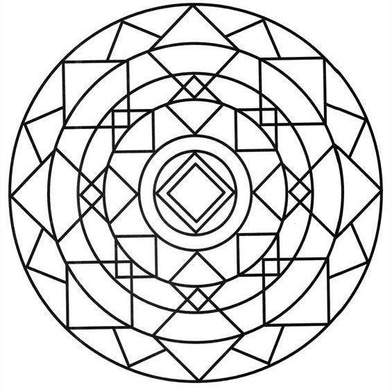 mandala para niños con figuras geometricas