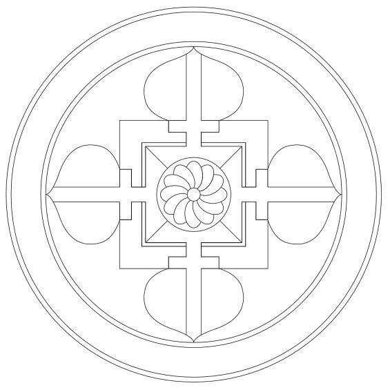 mandala para niños con forma de cruz
