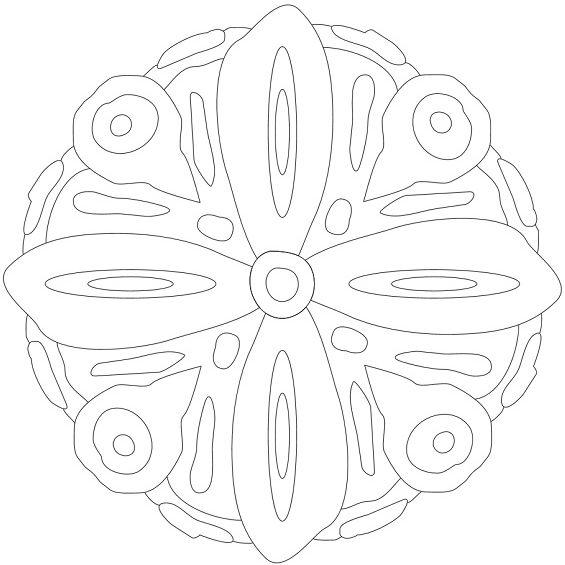 mandala para niños con forma de flor