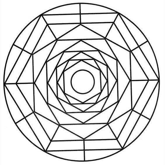 mandala para niños de triangulos y rectangulos