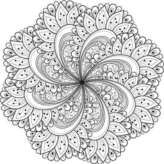 mandalas dificiles de flores para pintar
