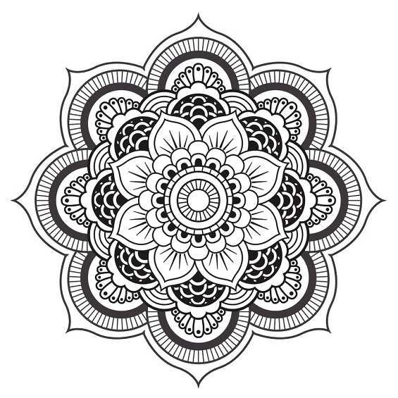 mandalas dificiles flores para imprimir