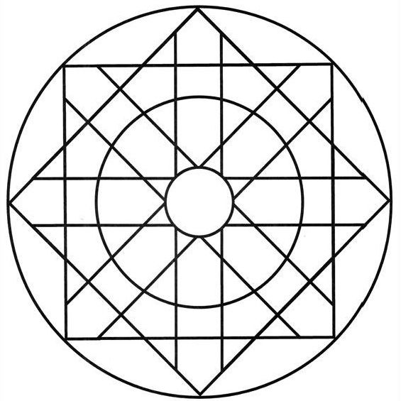 mandalas para niños de preescolar con figuras geometricas