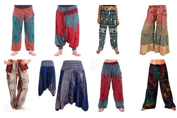 Pantalones Hippies De Mujer Y Hombre Cagados Campana