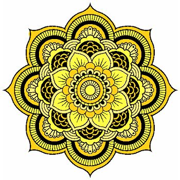 Mandala amarillo