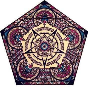 Mandala con forma de pentágono