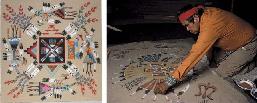 los mandalas de los indios navajos
