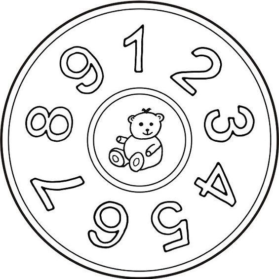 mandalas para colorear con numeros