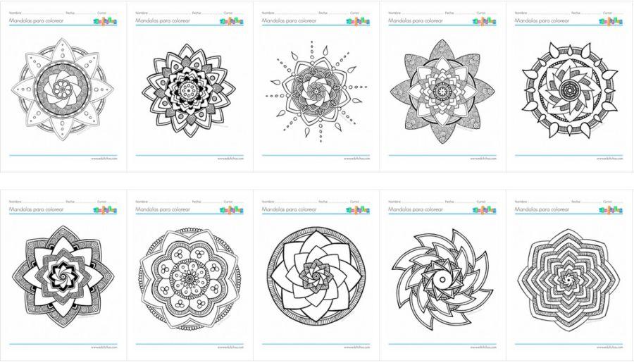 mandalas para colorear en pdf